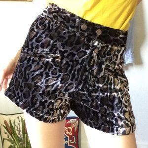 Velvet Leopard Mini Shorts Simone by Katie Nehra